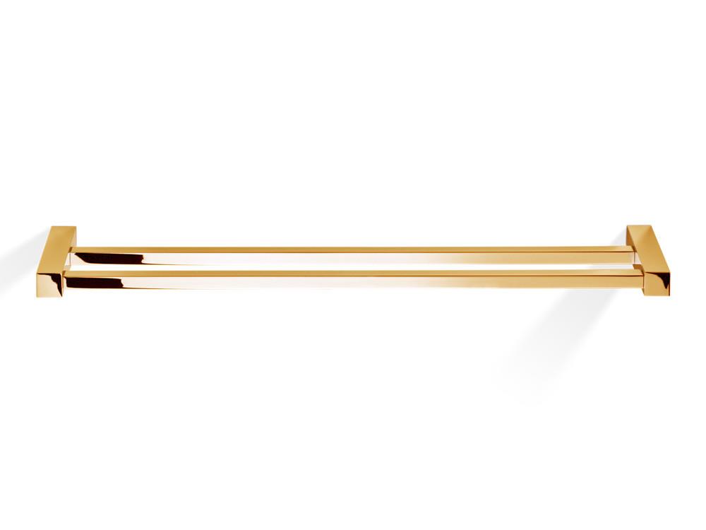 Wieszak/ reling na ręczniki podwójny Decor Walther CO HTD80 Gold