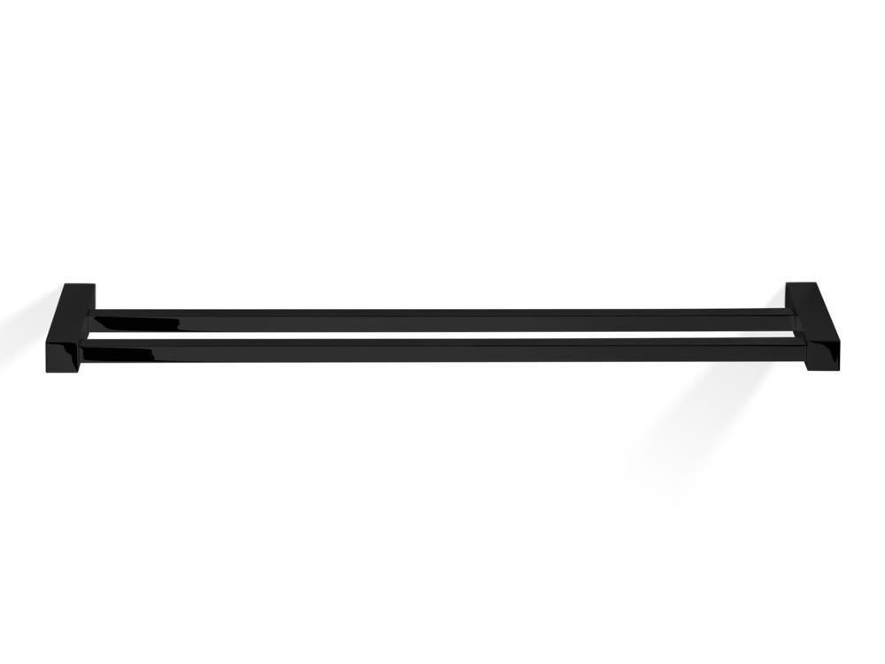 Wieszak/ reling na ręczniki podwójny Decor Walther CO HTD80 Black Matt