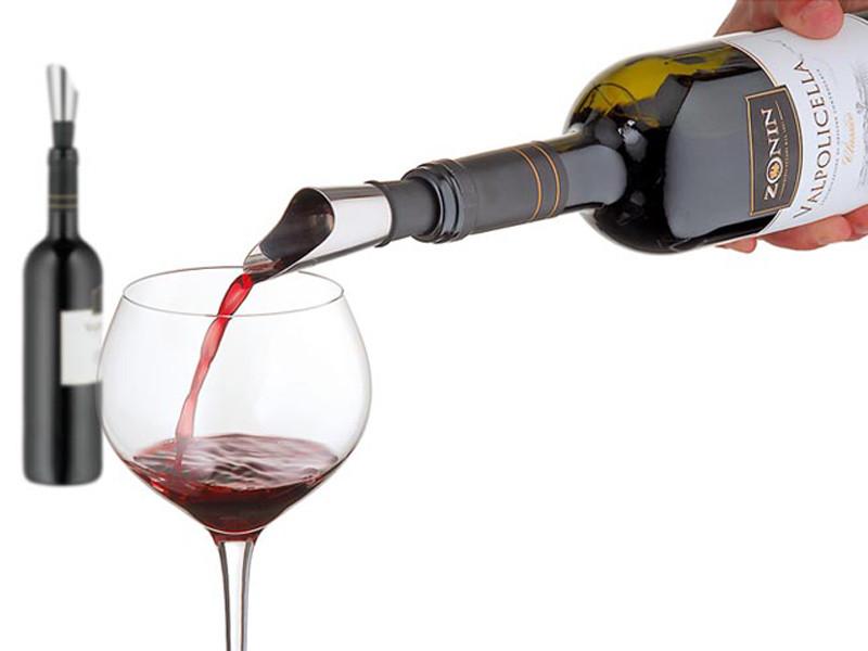 Nalewak do dekantacji wina WMF Vino Silver/Black