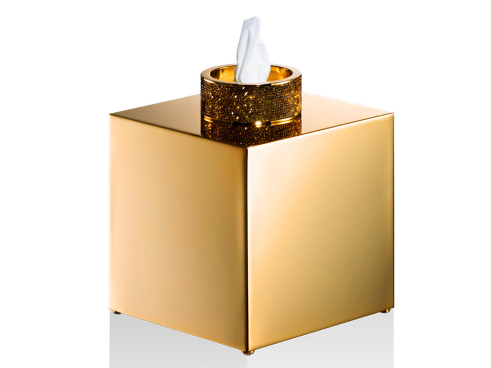 Pudełko na chusteczki Decor Walther Rocks Swarovski Crystal KB Gold