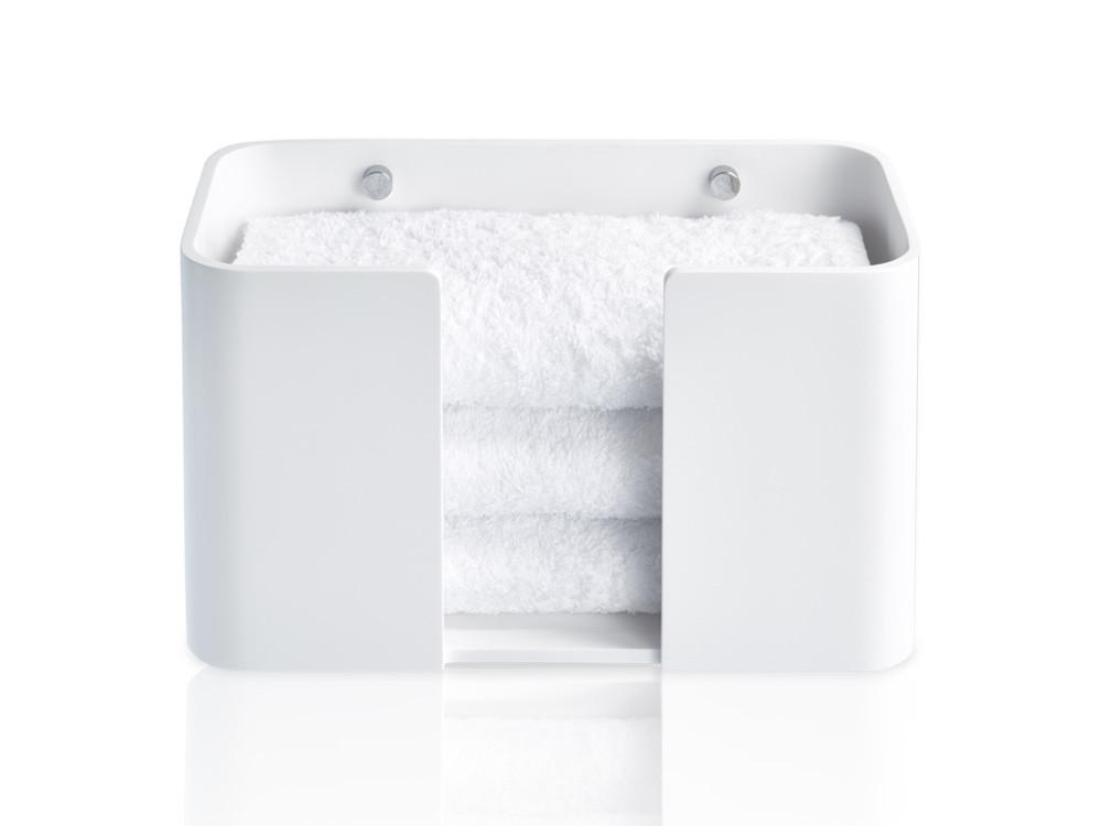 Pojemnik na ręczniki ścienny Decor Walther Stone WPTB White Chrome