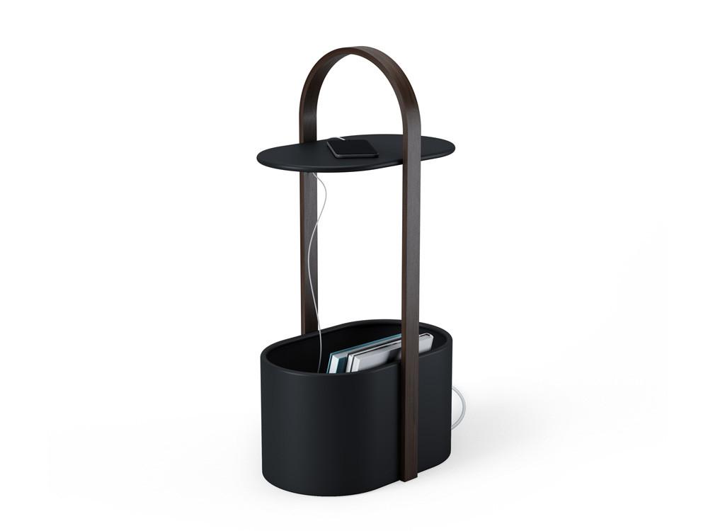 Stolik z pojemnikiem Hub Storage Black Walnut