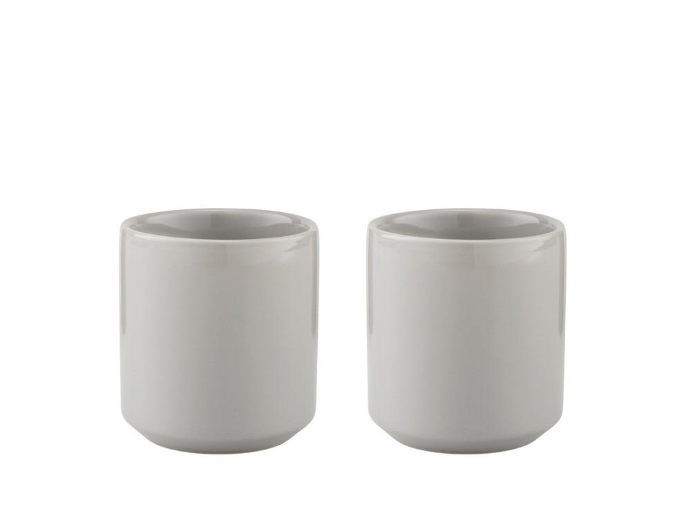 Kubeczek do gorących napojów zestaw x2 Stelton Classic Core Light Grey