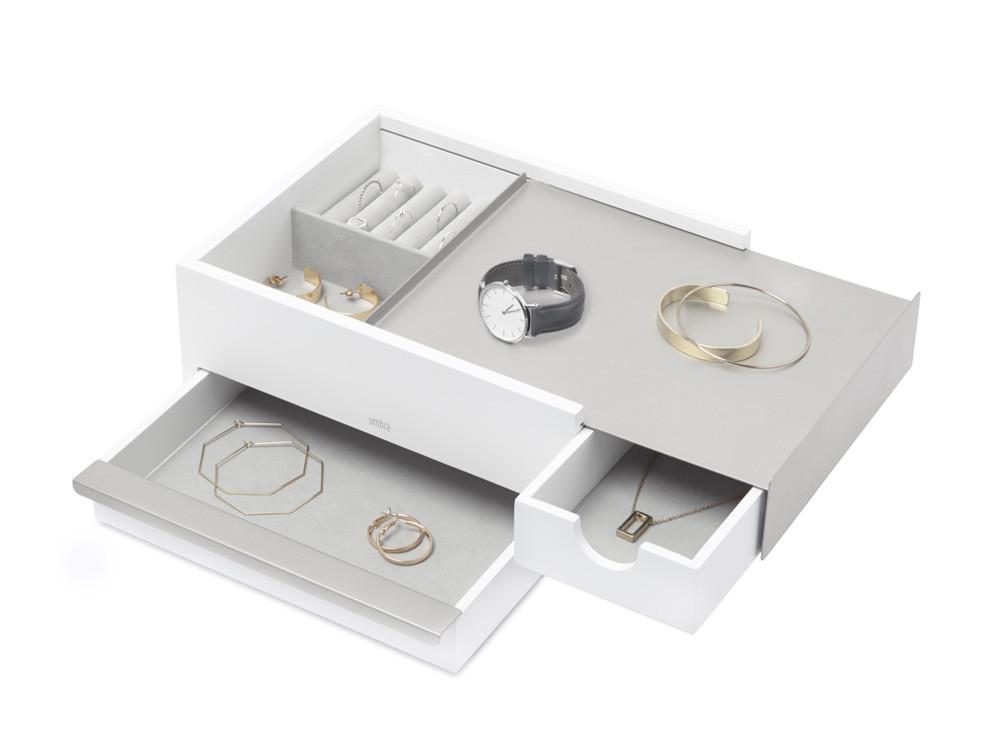 Pudełko na biżuterię Umbra Stowit White