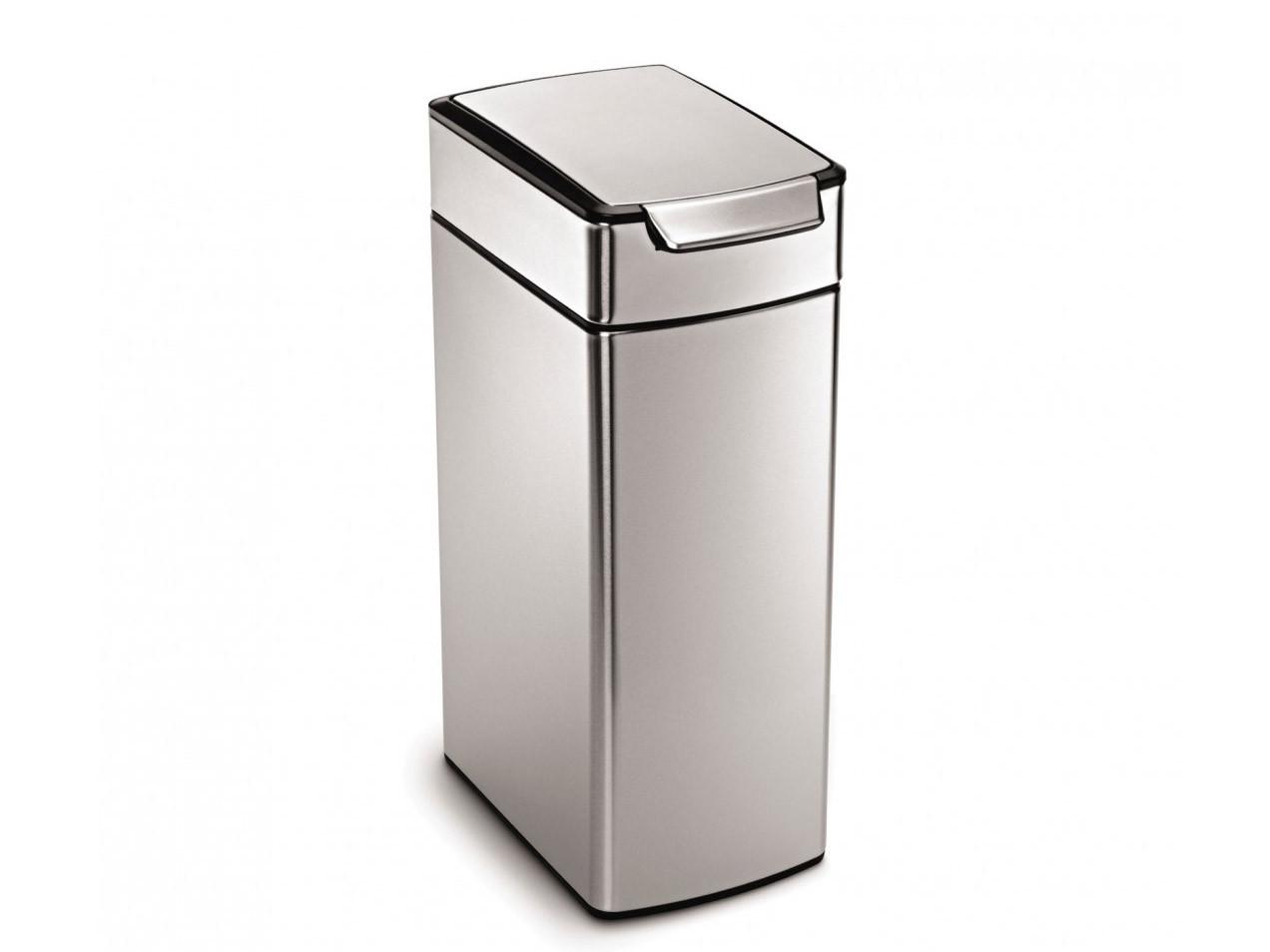 Kosz na śmieci Simplehuman Touch Bar Slim Silver  FPP 40L