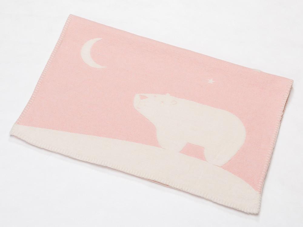 Kocyk DF Finn Night Bear Pink 65x90