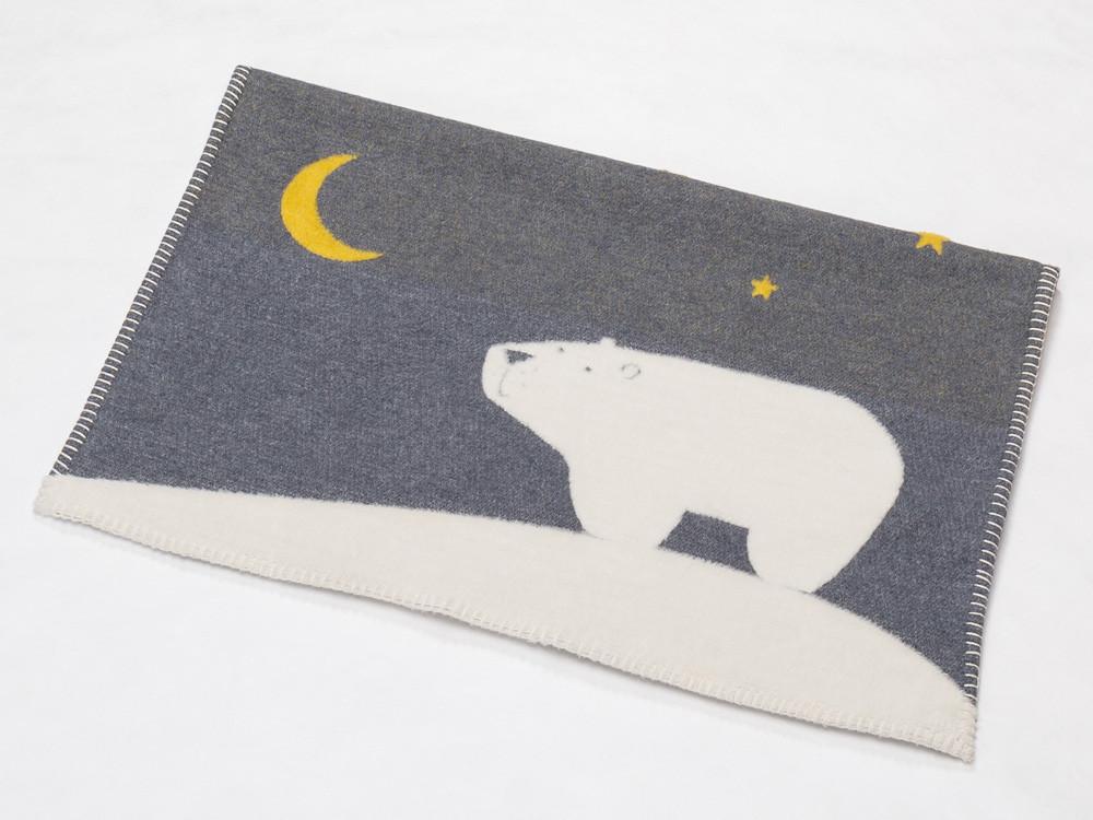 Kocyk DF Finn Night Bear Grey 65x90