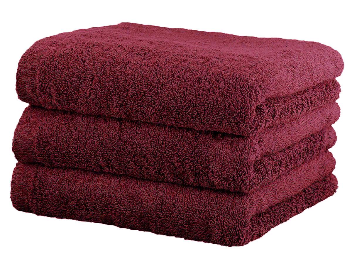 Ręcznik Cawo Lifestyle Uni Bordeaux 50x100
