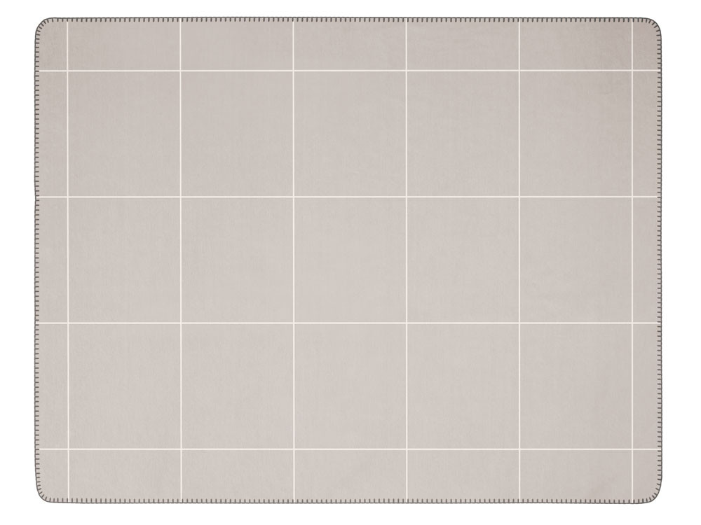Koc Biederlack Wool Grid Grey 150x200