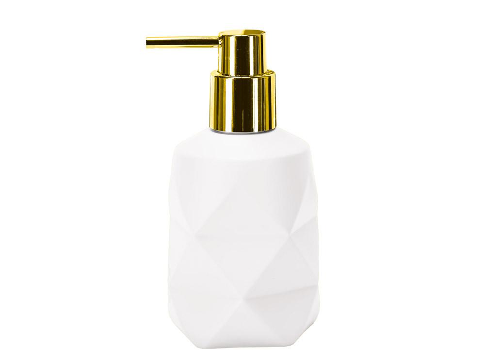 Dozownik do mydła KW Golden Crackle White