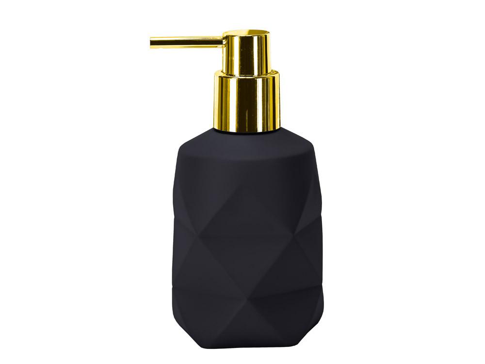 Dozownik do mydła KW Golden Crackle Black