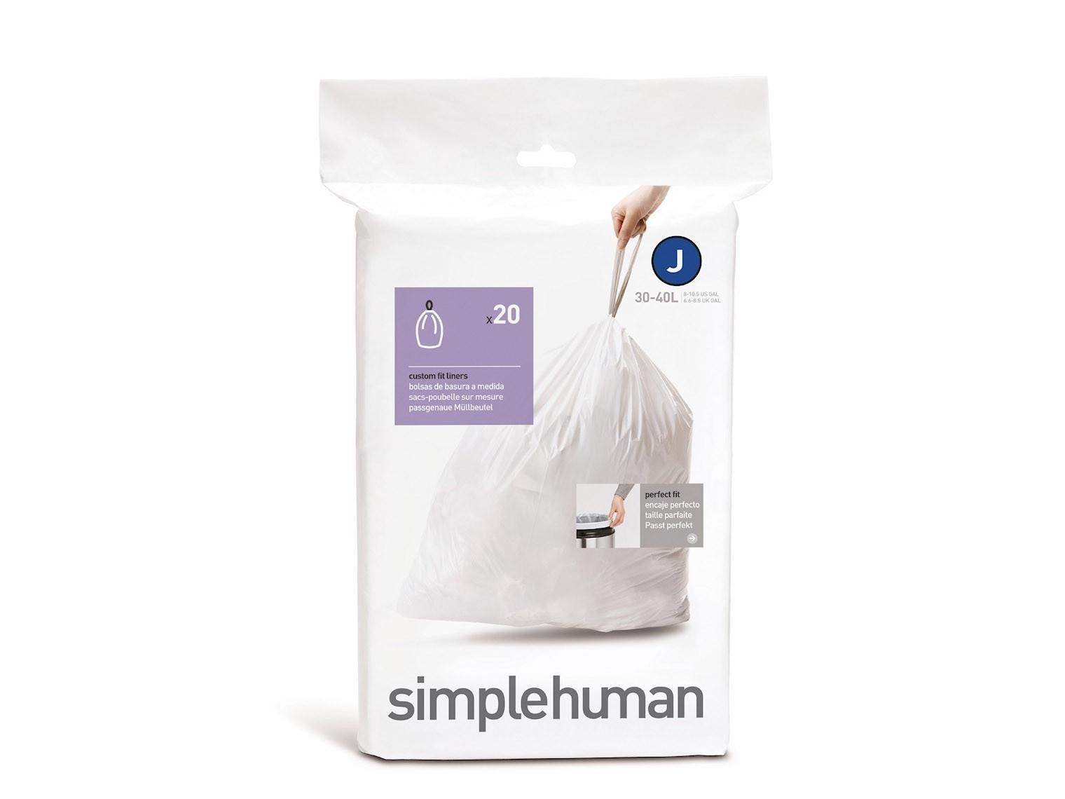 Worki na śmieci Simplehuman 30-45L rozm. J 20szt