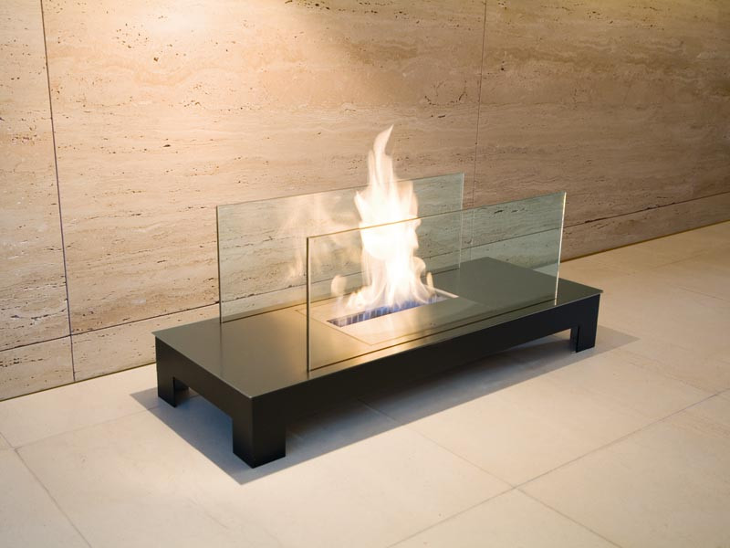 Biokominek Radius Floorflame Matt Black