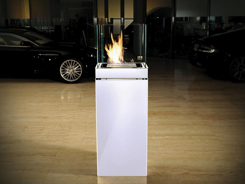 Biokominek Radius Highflame Shine White L
