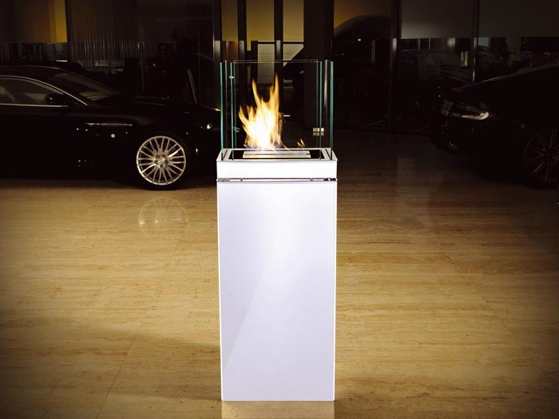 Biokominek Radius Highflame Matt White