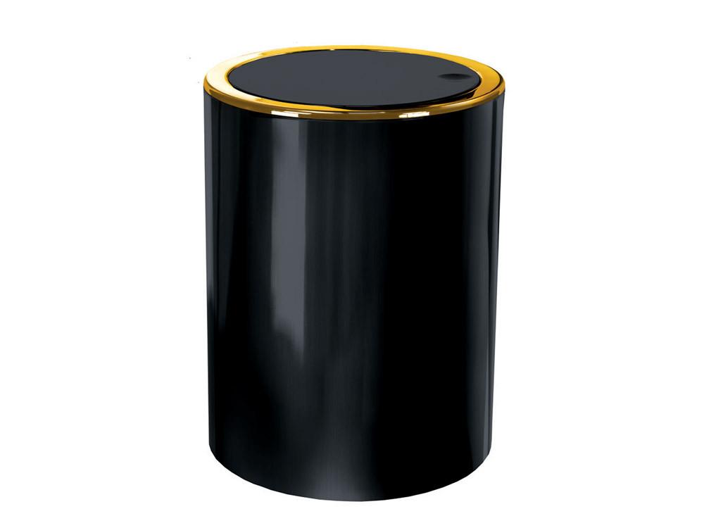 Kosz na śmieci KW Clap Golden Black 5L