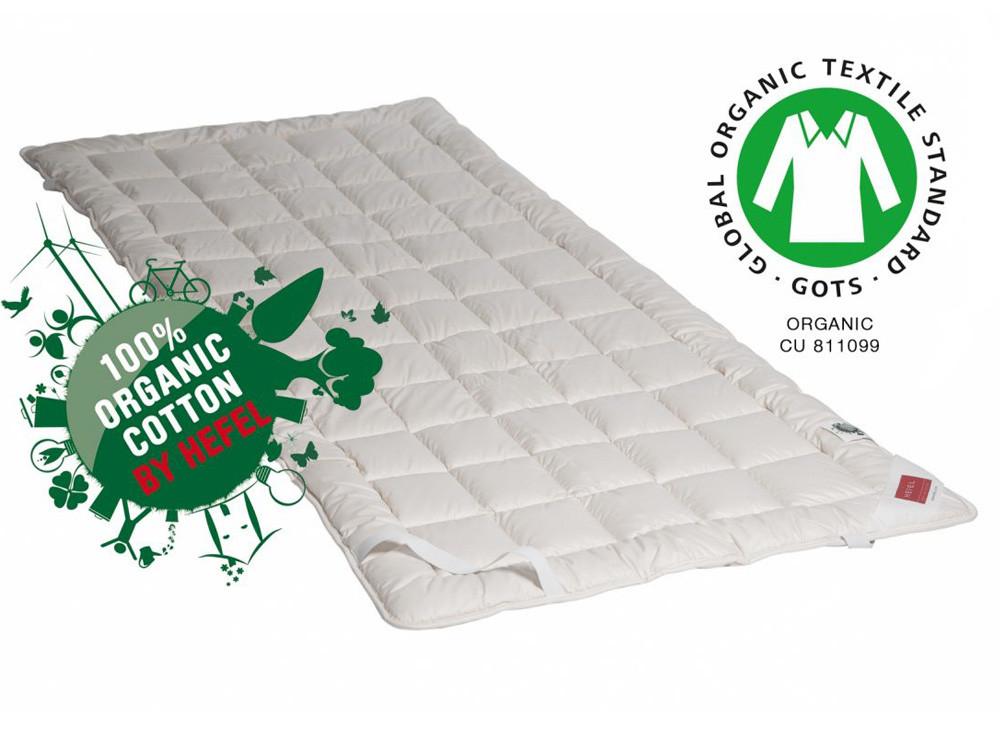 Podkład na materac / Ochraniacz Hefel Bio Cotton Organic GOTS 200x200