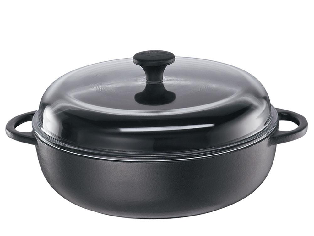 Brytfanna żeliwna z pokrywką Kuchenprofi Provence Black ⌀ 24
