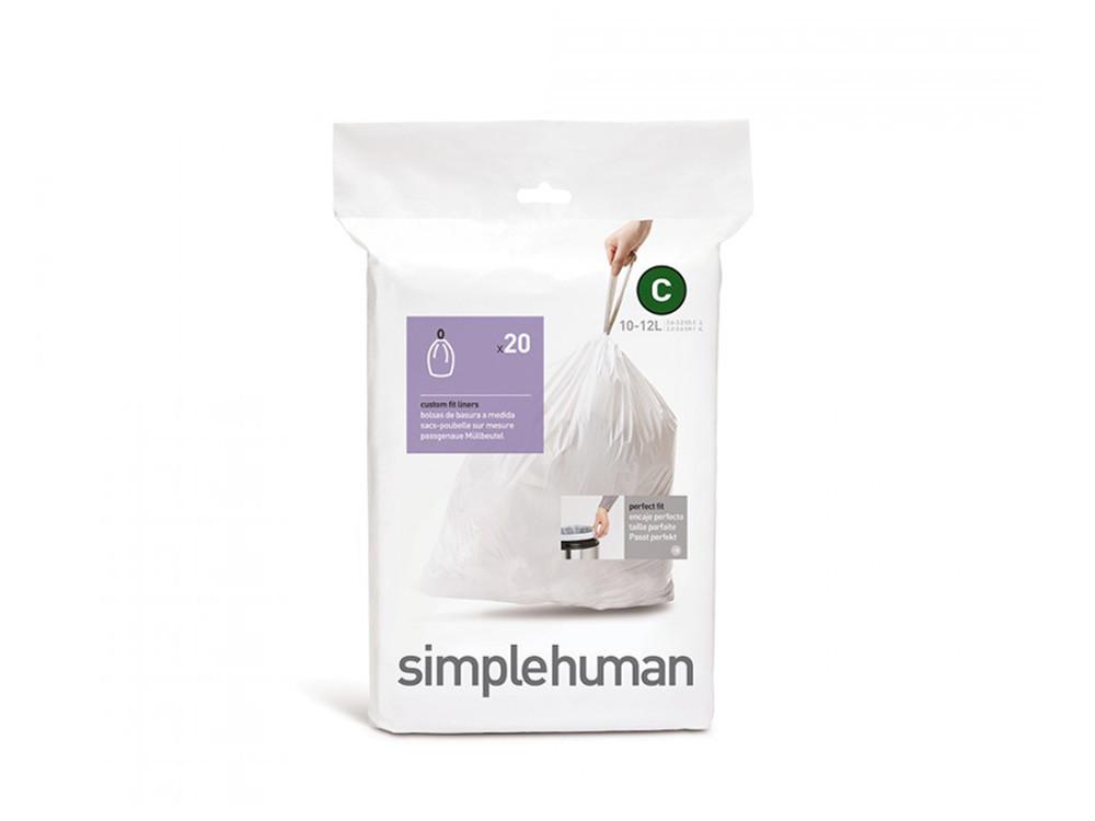 Worki na śmieci Simplehuman 10/12L rozm. C 20szt