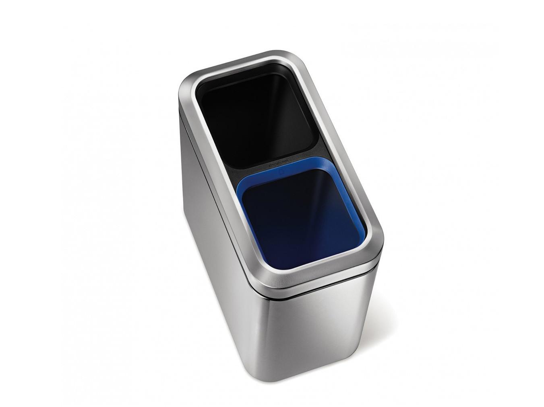 Kosz na śmieci Simplehuman Recycler Silver/Black/Blue 2x10L