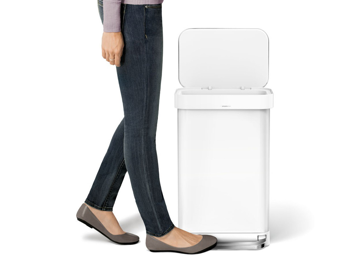 Kosz na śmieci Simplehuman Liner Pocket White 45L