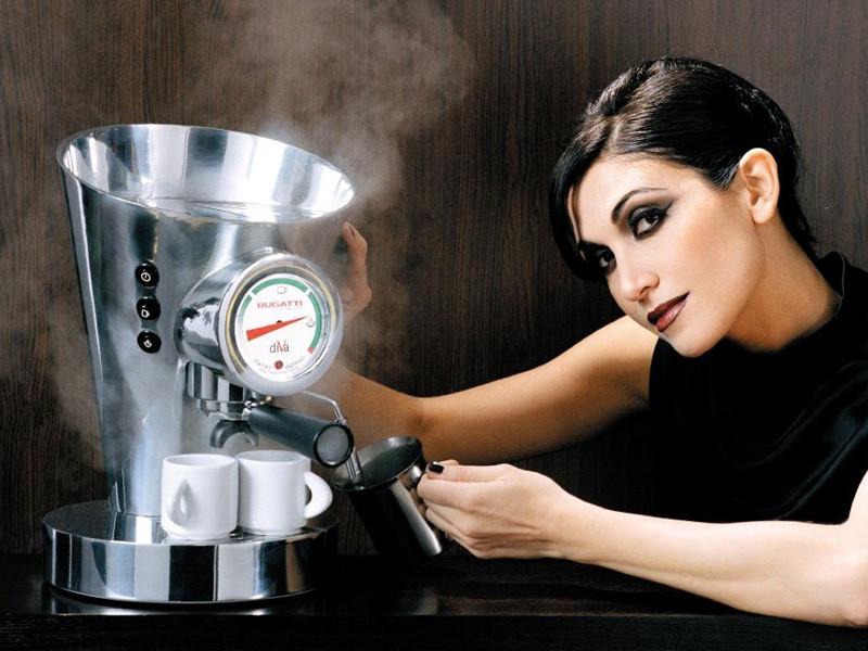 Ekspres ciśnieniowy do kawy Bugatti Diva Chrome