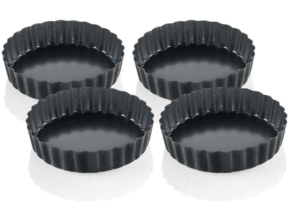 Foremki do tartaletek zestaw x4 Kuchenprofi Pâtissier Black