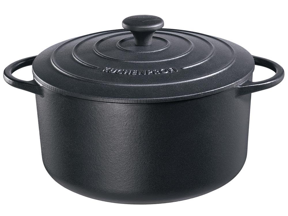 Garnek żeliwny Kuchenprofi Provence Black 5,3 L