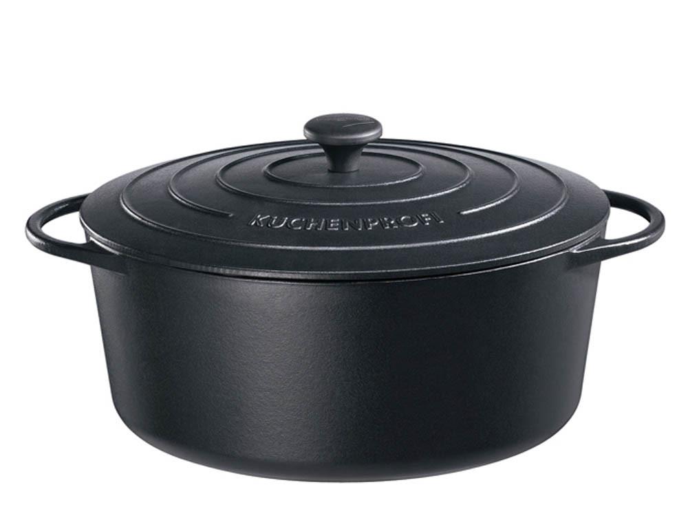 Garnek żeliwny Kuchenprofi Provence owalny Black 6,0 L