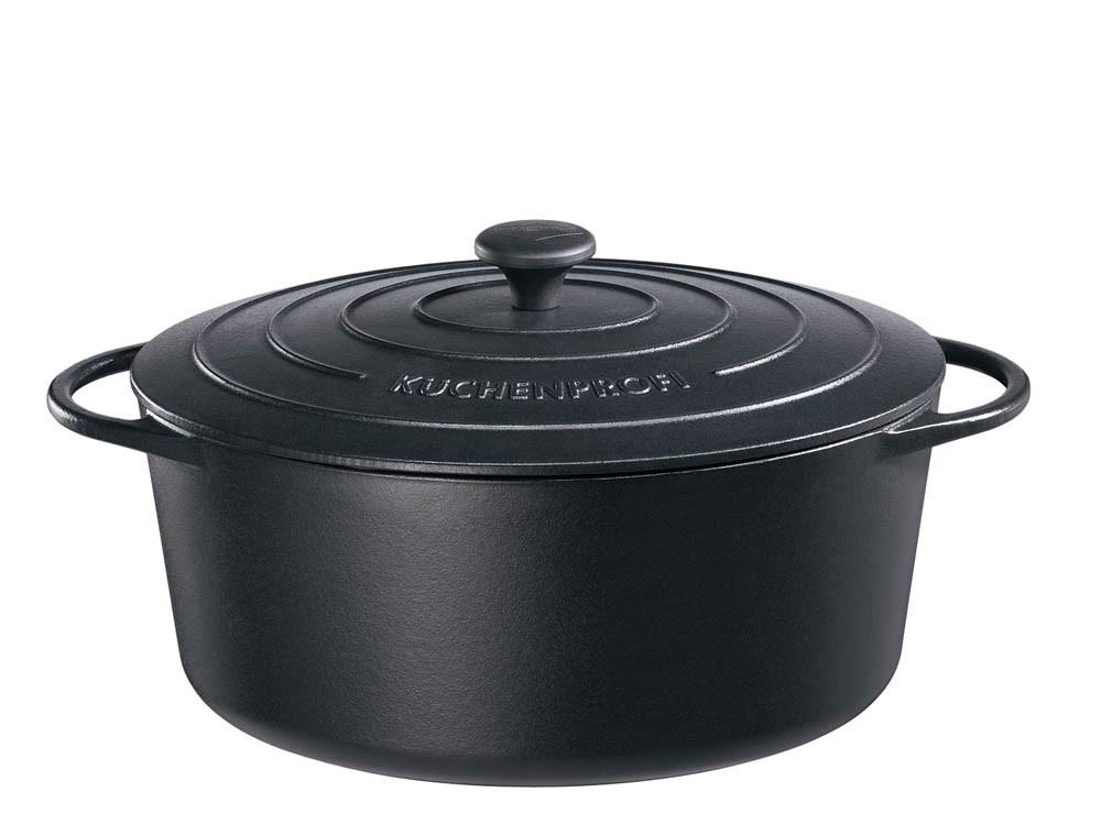 Garnek żeliwny Kuchenprofi Provence owalny Black 7,0 L