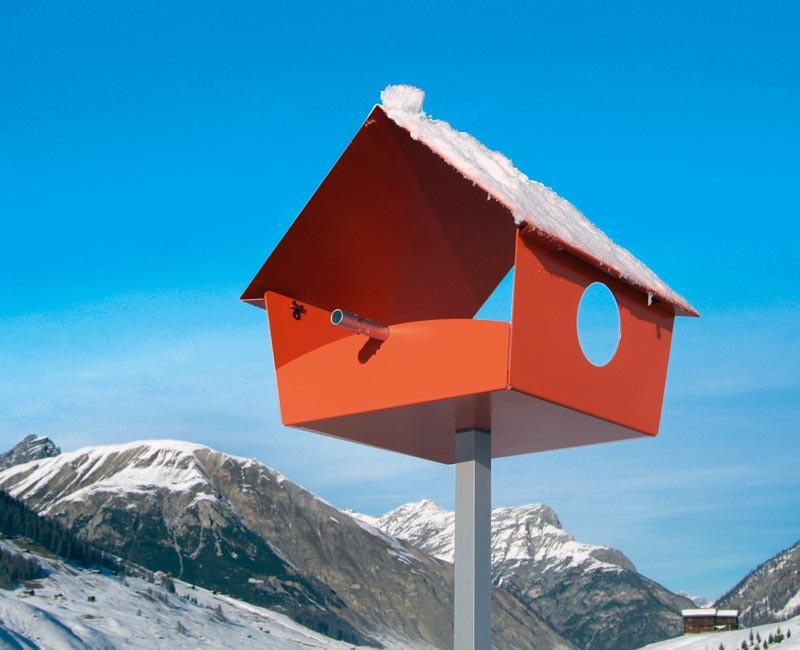 Karmnik dla ptaków Radius Piep Show XXL Orange