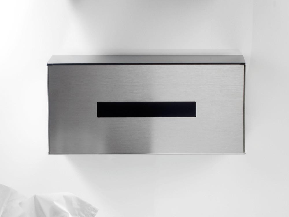 Pudełko na chusteczki nablatowe/ścienne Decor Walther KB 95 Silver Matt