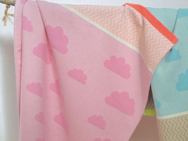 Kocyk DF Ida Cloudy Sky Pink 70x90