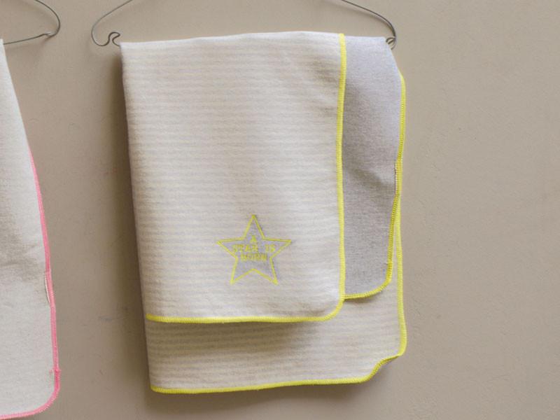 Kocyk DF Juwel Star&Strips Lime 70x90