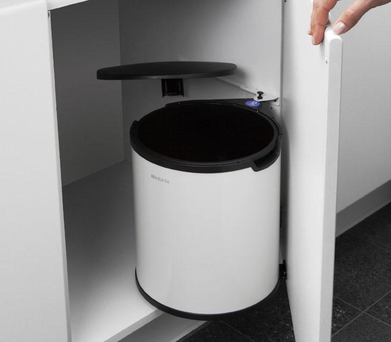 Kosz na śmieci Brabantia Build-In White 15L Szafkowy
