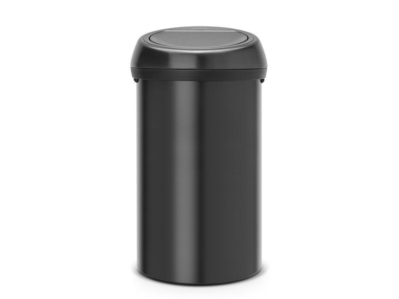 Kosz na śmieci Brabantia Touch Bin Black 60L z czarną pokrywą