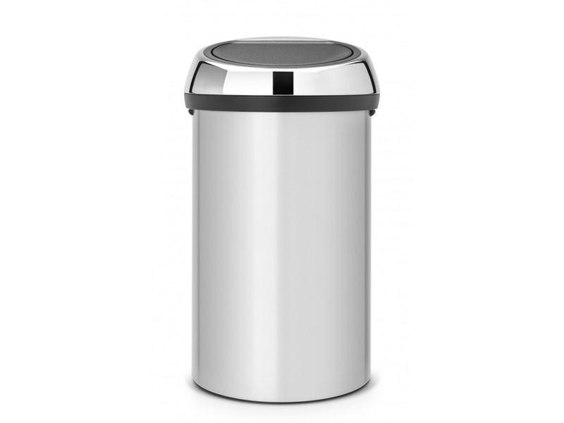 Kosz na śmieci Brabantia Touch Bin Metalic Grey 60L