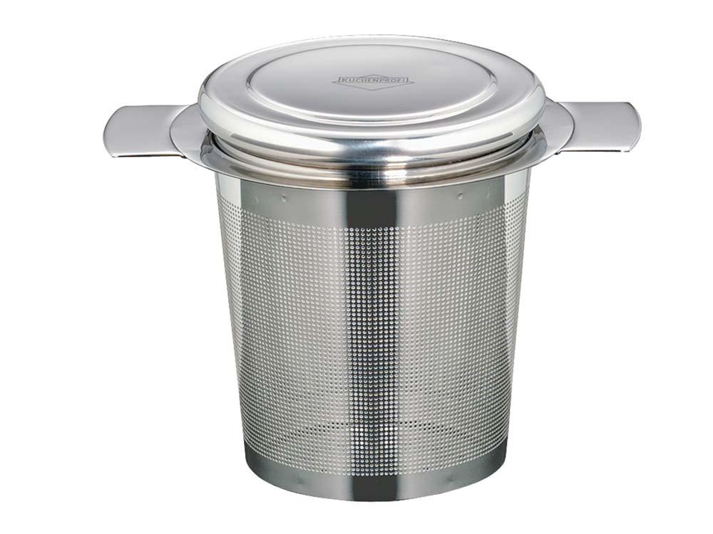 Koszyczek zaparzacz do herbaty i ziół z pokrywką Kuchenprofi