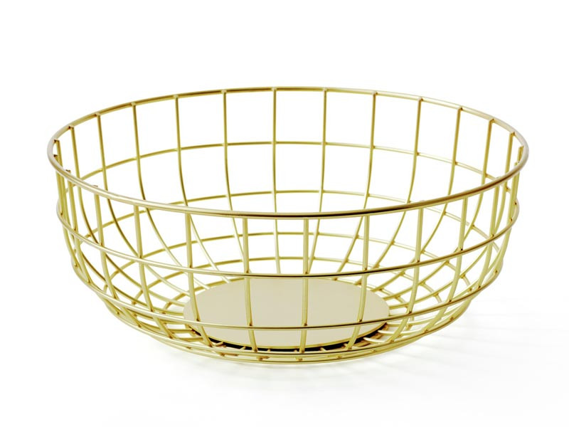 Misa na owoce Menu Wire Bowl Brass