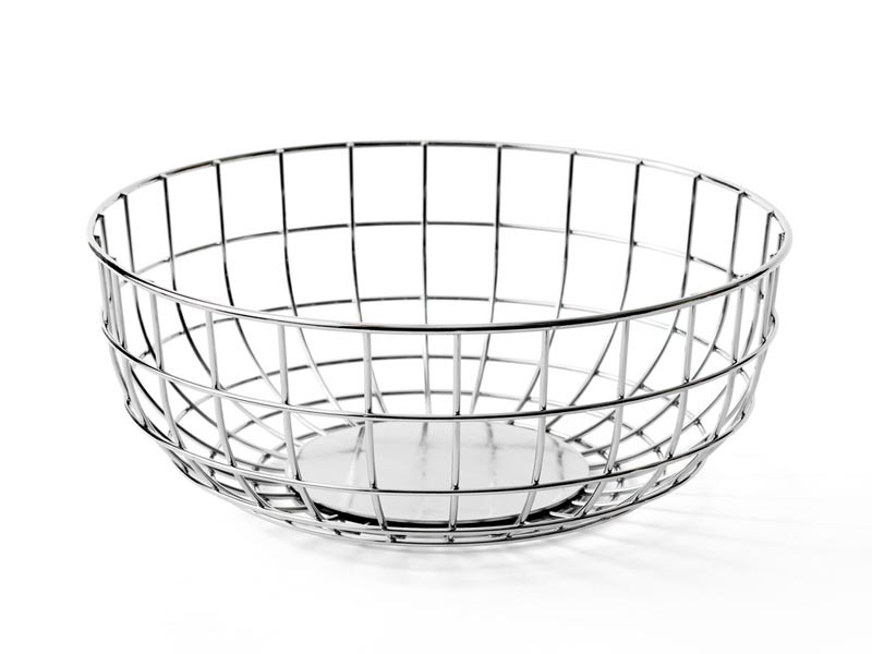 Misa na owoce Menu Wire Bowl Chrome