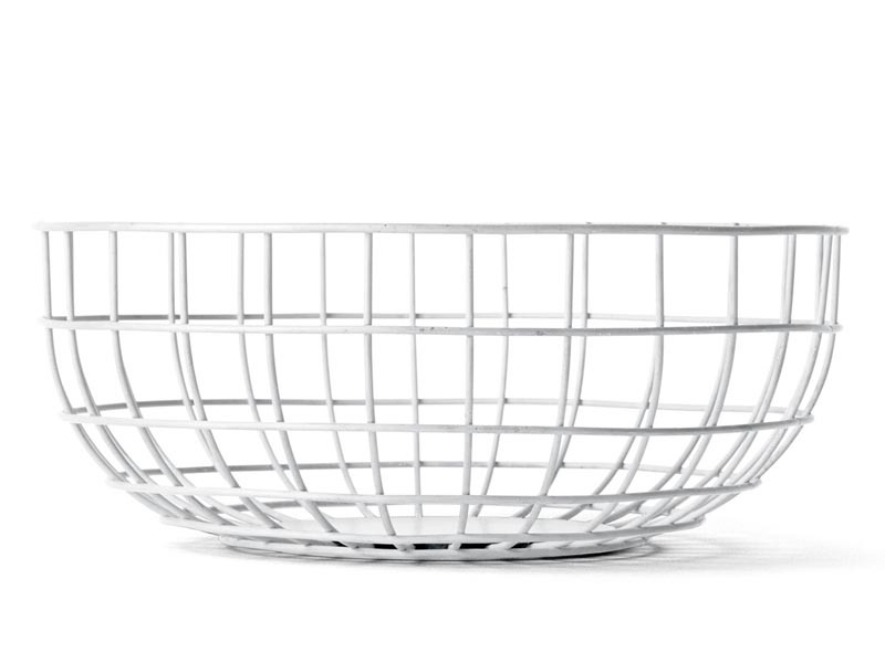Misa na owoce Menu Wire Bowl White