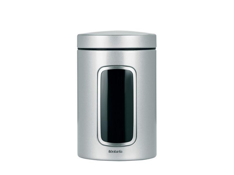 Pojemnik kuchenny Brabantia Window Metalic Grey 1,4L z okienkiem
