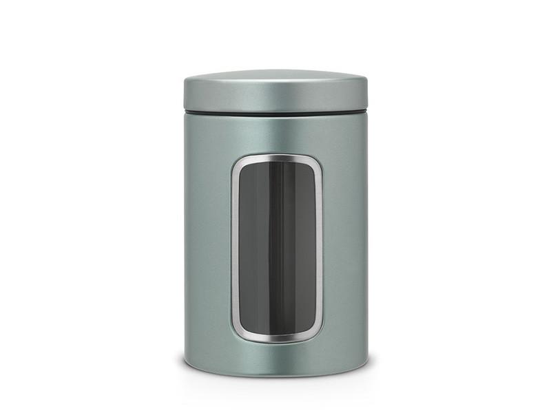 Pojemnik kuchenny Brabantia Window Metalic Mint 1,4L z okienkiem