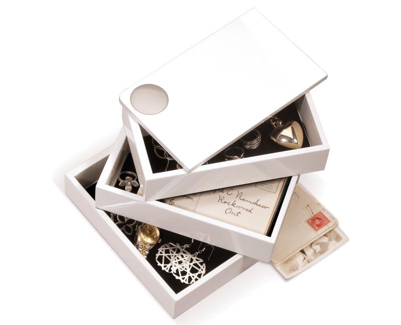 Pudełko na biżuterię Umbra Spindle White