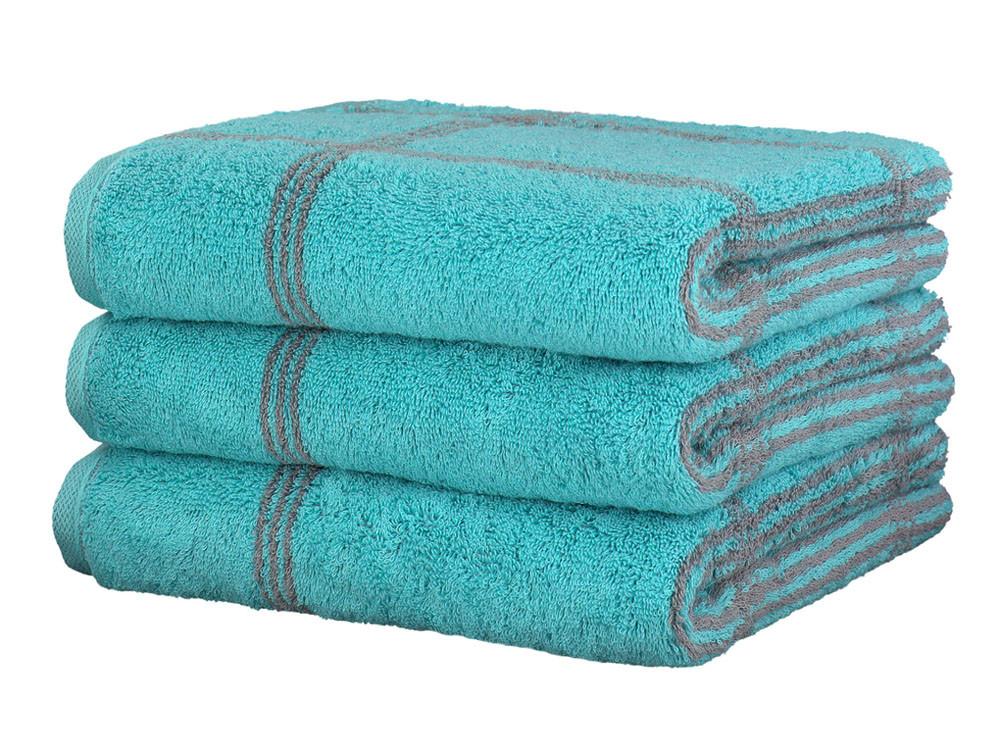 Ręcznik Cawo Two-Tone Graphic Turkis