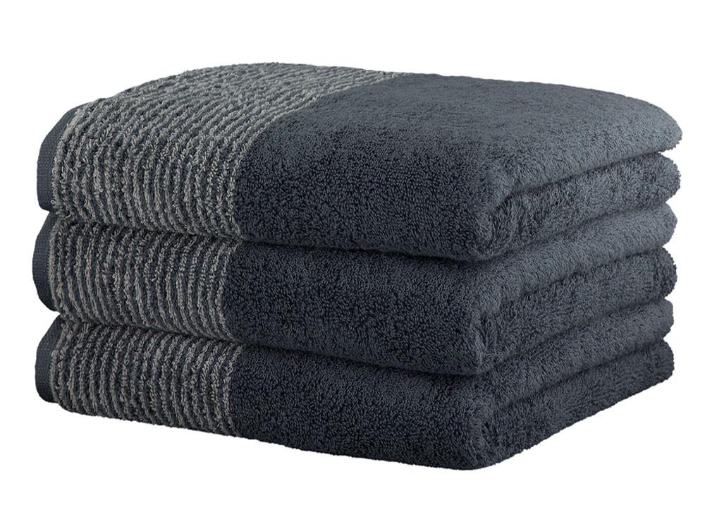 Ręcznik Cawo Two-Tone Uni Grey