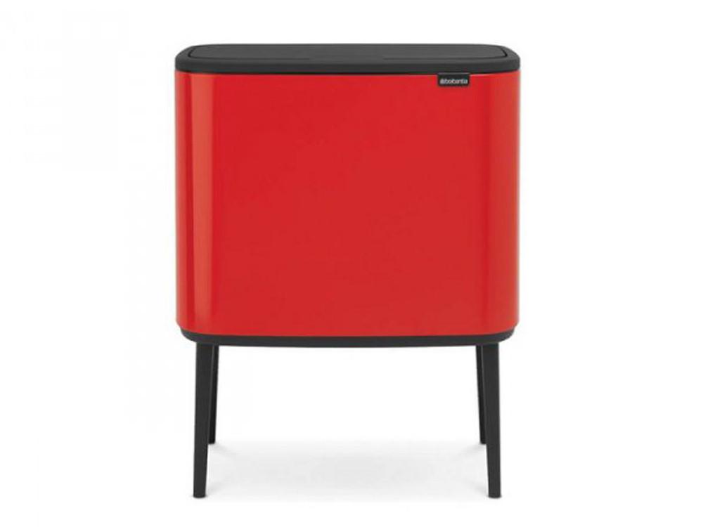 Kosz na śmieci Brabantia Bo Touch Passion Red 11L+23L