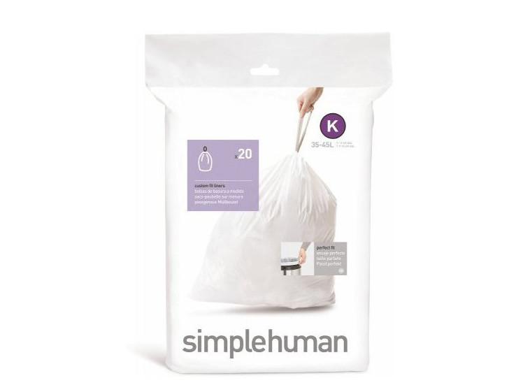 Worki na śmieci Simplehuman 35-45L rozm. K 20szt