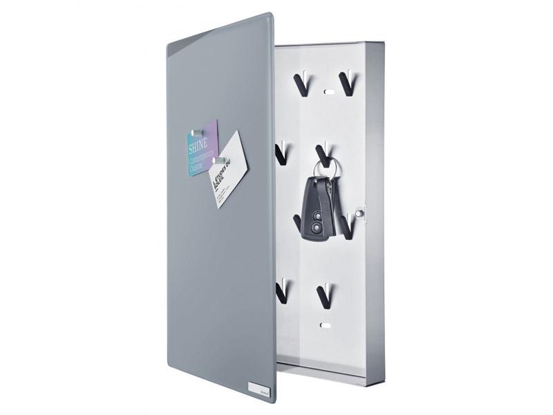 Skrzynka na klucze Blomus Velio Vertical Grey L z tablicą magnetyczną
