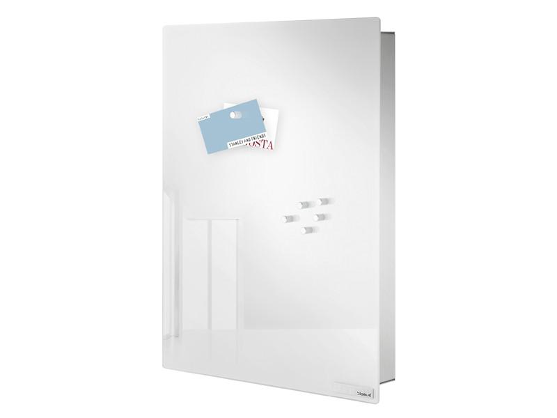 Skrzynka na klucze Blomus Velio Vertical White L z tablicą magnetyczną